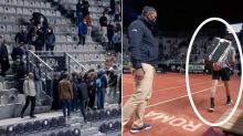 Farcical scenes as tennis crowd forced to leave mid-match