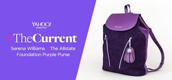 Serena Williams designs purple backpack that gives back