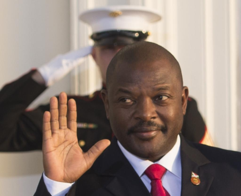 Burundi President Pierre Nkurunziza arrives at the White House during the US Africa Leaders Summit on August 5, 2014 in Washington, DC