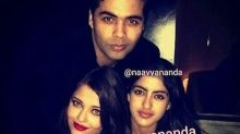 Navya Nanda poses with Aishwarya and Karan Johar and it's absolutely perfect!