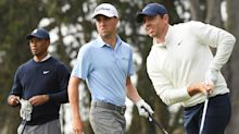 Tiger Woods, Justin Thomas, Rory McIlroy, Justin Rose in Payne's Valley Cup