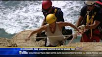 SD lifeguards save a woman trapped near the glider port