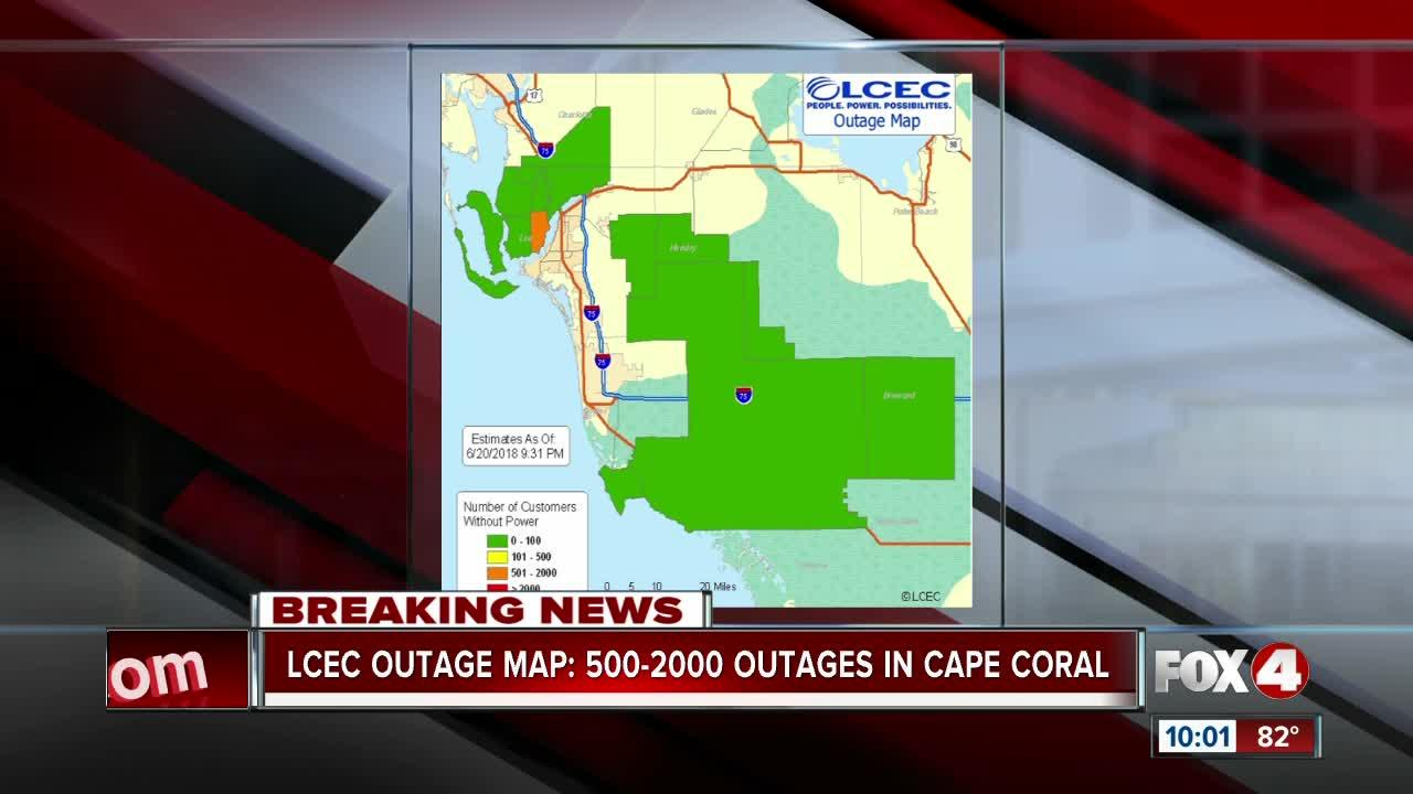 Up To 2000 Households Without Power Video