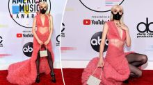 Singer's bizarre outfit at American Music Awards
