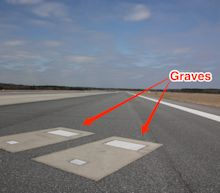 2 people are buried on a runway at a US airport where hundreds of planes land every day, and many people have no idea