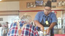 Teen waitress gets college scholarship after photo of her cutting up a 78-year-old diner's food goes viral