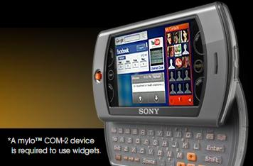 Sony's launching mylo labs to keep your COM-2 in the widgets