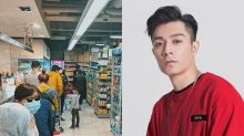 Pakho Chau queues up to buy paper towels