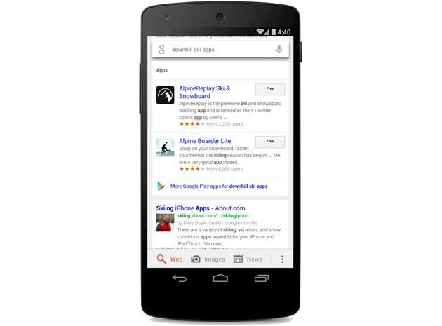 Google search on Android now finds results within apps