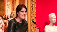 Shop the look: Princess Eugenie's edgy black leather mini-dress