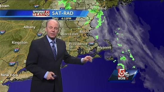 Harvey's Thursday Boston area weather forecast