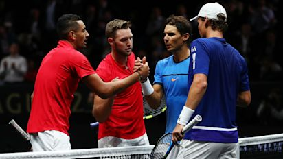 Nadal and Berdych beaten in doubles but Europe dominate Laver Cup day one