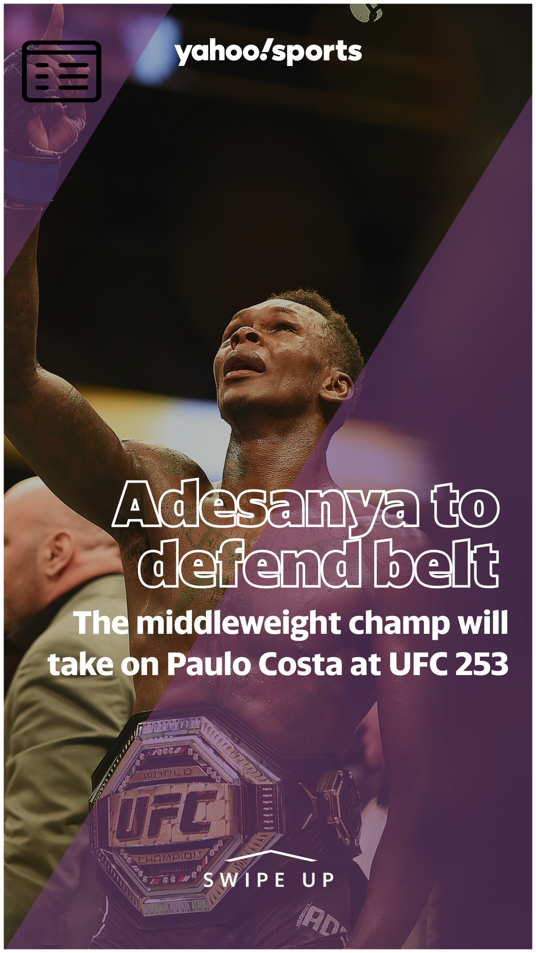 Israel Adesanya To Defend Middleweight Belt Against Paulo Costa At Ufc 253 Video