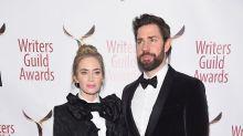 Emily Blunt and John Krasinski both wear tuxedos to the 2019 Writers Guild Awards