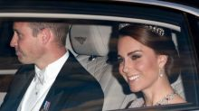 Kate Middleton Pairs Diana's Glittery Tiara With Pink Marchesa Dress