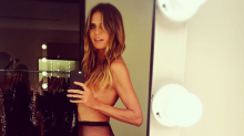 Heidi Klum Goes Topless: 'Another Day at the Office'