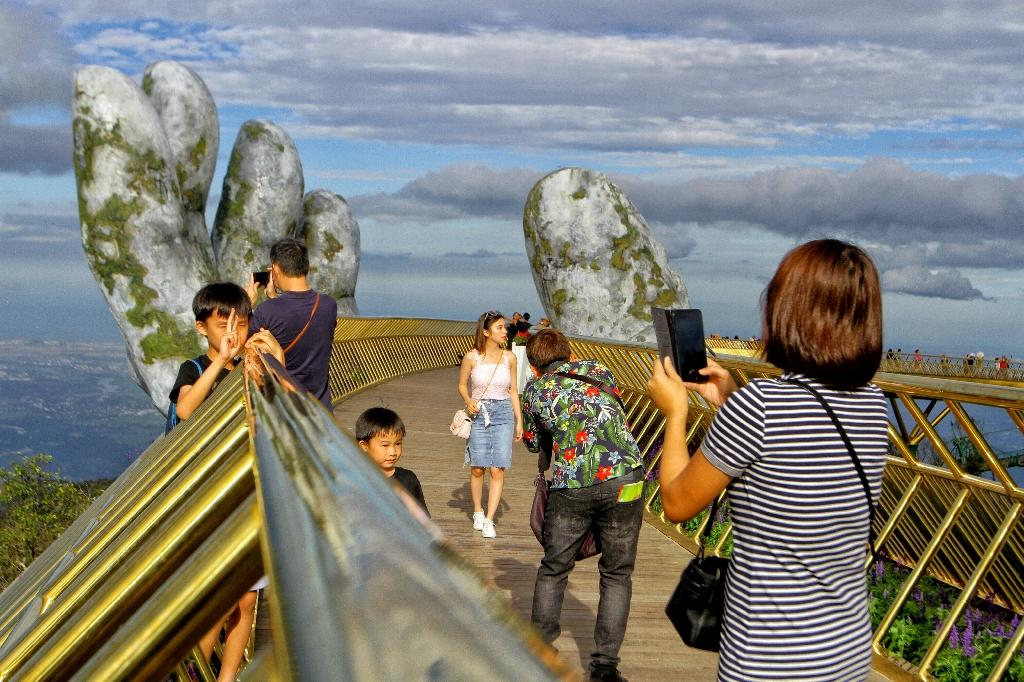 Images of the bridge have gone viral on social media (AFP Photo/Linh PHAM)