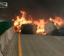 Racine County, Wisconsin, semi crash, explosion leaves 2 dead, multiple injured; NB lanes of I-94 remain closed