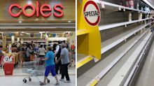 Why Coles supermarket shelves are empty – and it's not due to panic buying