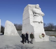 Trump marks MLK day with memorial visit