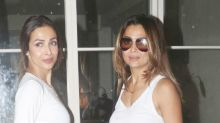 Arora sisters give us fashion goals while twinning in a denim with crop top combo