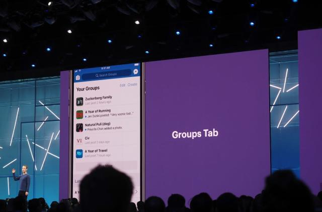 Facebook is moving Groups into the spotlight