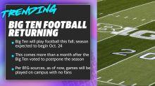 Big Ten football returning