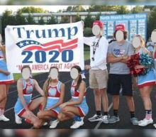 NC high school cheerleaders on probation after posing with Trump 2020 sign