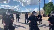 Protesters Confront Pittsburgh Police in Riot Gear During Demonstration