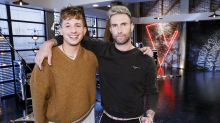 True bromance: Adam Levine and 'amazing man' Charlie Puth bond over sleepovers and sweaters on 'The Voice'