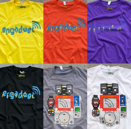 New eBoy-designed Engadget shirts on sale: shipping now to stocking stuffers worldwide