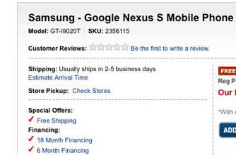 AT&T Google Nexus S on sale today, exclusive to Best Buy