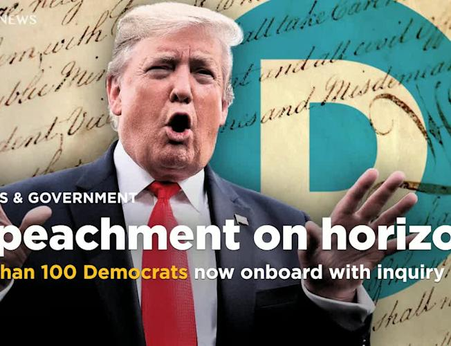 More than 100 Democrats now onboard with Trump impeachment inquiry