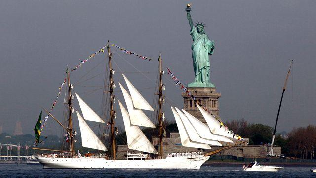 Naval pride on display in New York Harbor