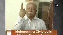 Maharashtra Civic polls: Mohan Bhagwat casts his ballot