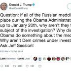Trump Calls Out Jeff Sessions Over Obama Investigation—And Misspells His Name