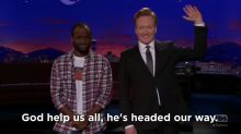 Conan's hilarious message to the people of Haiti