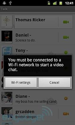 Confirmed: T-Mobile blocking GTalk video chat over 3G on Nexus S