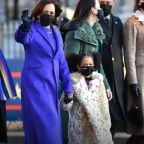 Kamala Harris's grandnieces wear animal-print coats to inauguration in nod to her childhood photo