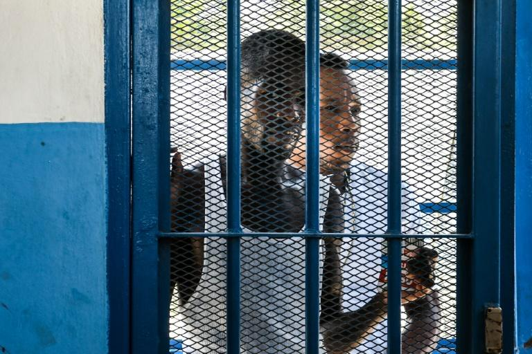 Haiti's prisons are the most overcrowded in the world, with the Port-au-Prince prison holding 3,626 inmates despite being built to hold 778 (AFP Photo/CHANDAN KHANNA)