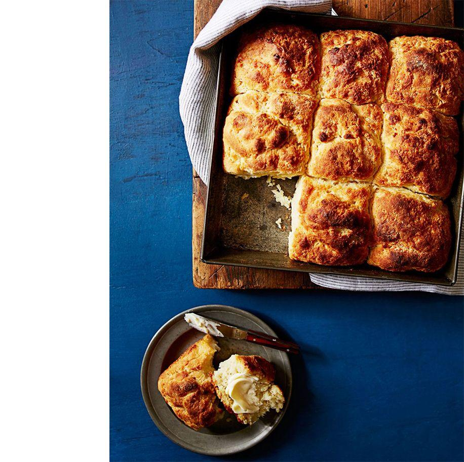 """<p>Who can resist a good biscuit with butter and honey?  This delicious side dish goes with pretty much anything.<br></p><p><em><a href=""""https://www.womansday.com/food-recipes/food-drinks/recipes/a39558/quick-n-easy-southern-biscuits-recipe-ghk0714/"""" rel=""""nofollow noopener"""" target=""""_blank"""" data-ylk=""""slk:Get the Quick 'n' Easy Southern Biscuits recipe."""" class=""""link rapid-noclick-resp"""">Get the Quick 'n' Easy Southern Biscuits recipe. </a></em></p>"""