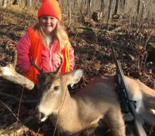 Six-year-olds show off bloody hunting trophies after minimum age scrapped in Wisconsin