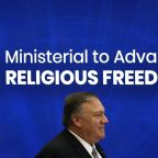 Pompeo takes aim at China at religious freedom conference