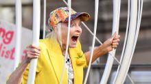 Schrille Protestaktion: Vivienne Westwood setzt Zeichen für WikiLeaks-Gründer Julian Assange