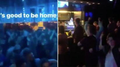 Shocking video inside crowded nightclub