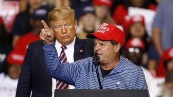 Eruzione regrets wearing MAGA hat at Trump rally