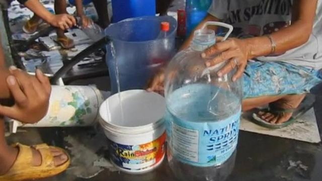 Clean water sparse in Tacloban