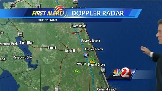 Storms flare up Tuesday afternoon
