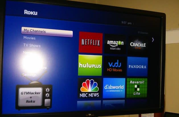Roku player software cracked open temporarily, root now to run XBMC later