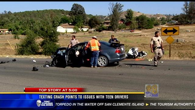 Texting crash points to issues with teen drivers